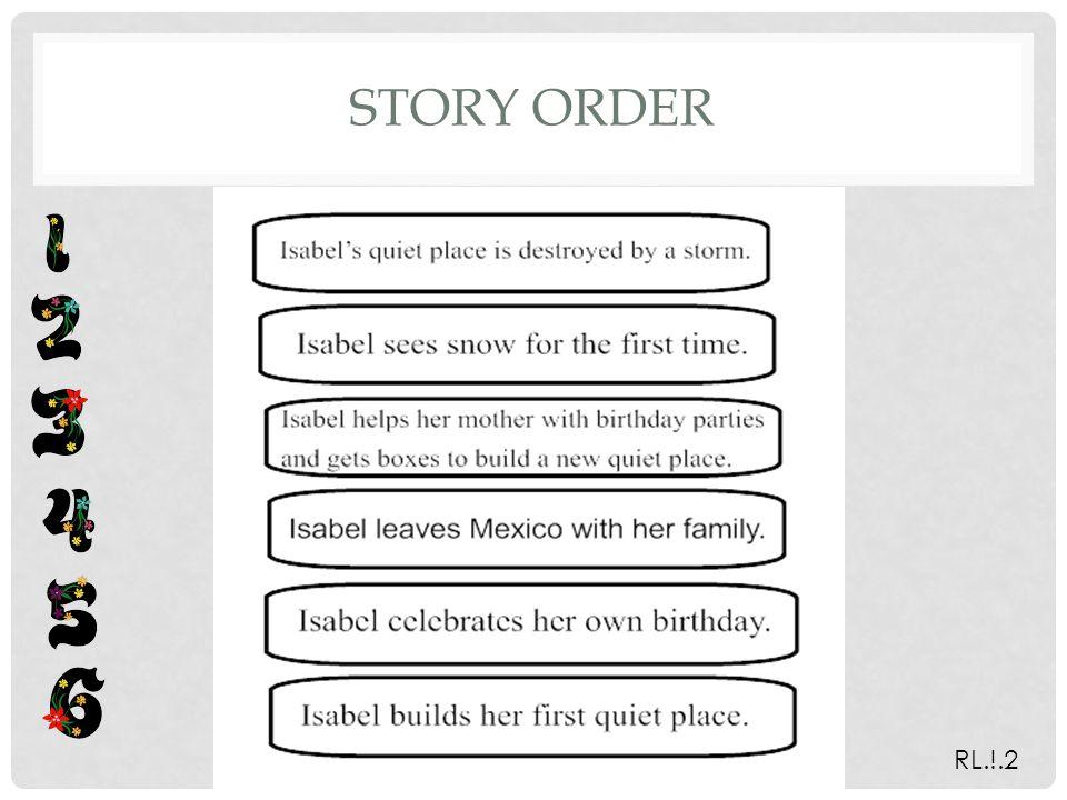 STORY ORDER RL.!.2