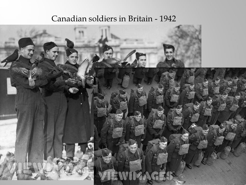 Canadian soldiers in Britain - 1942