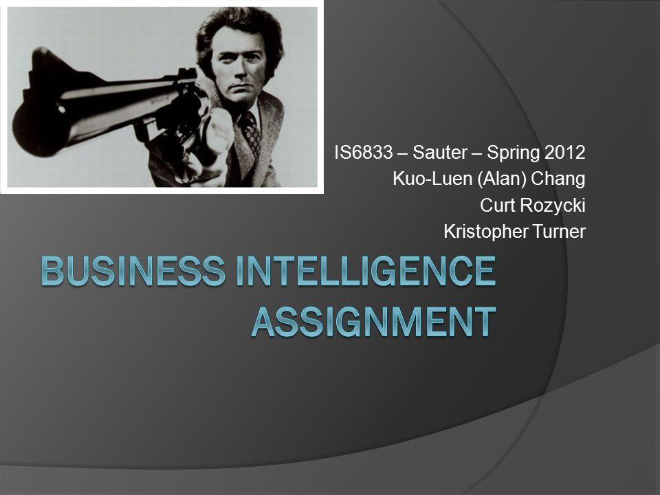 IS6833 – Sauter – Spring 2012 Kuo-Luen (Alan) Chang Curt Rozycki Kristopher Turner