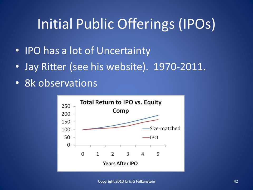IPO has a lot of Uncertainty Jay Ritter (see his website).