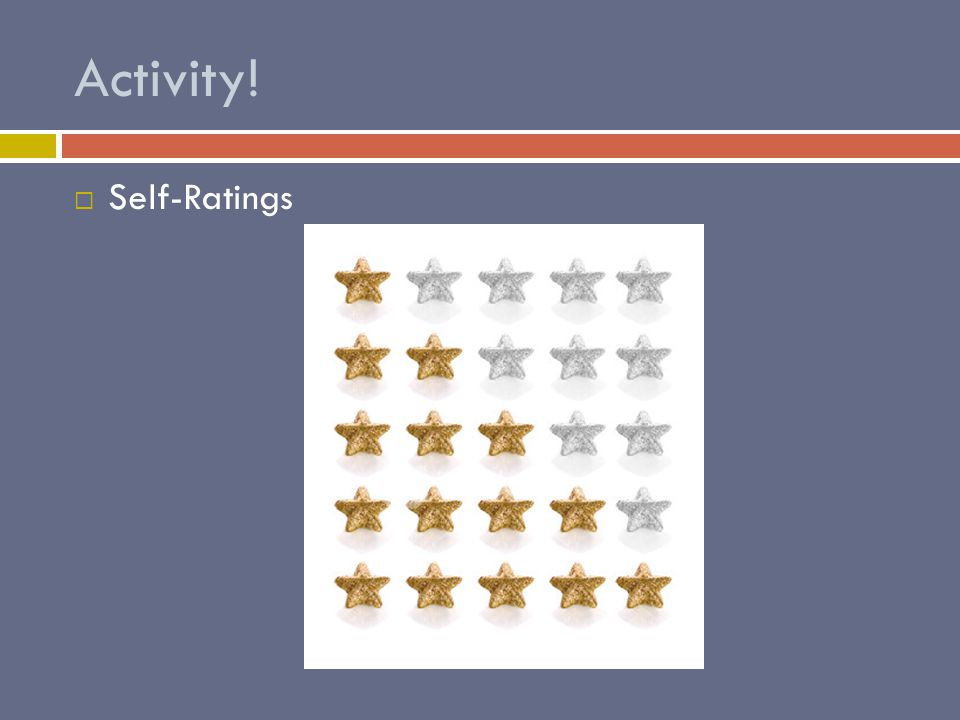 Activity!  Self-Ratings