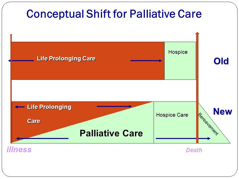 Conceptual Shift for Palliative Care Hospice Hospice Life Prolonging Care Palliative Care Bereavement Hospice Care Life Prolonging Care New Old Death
