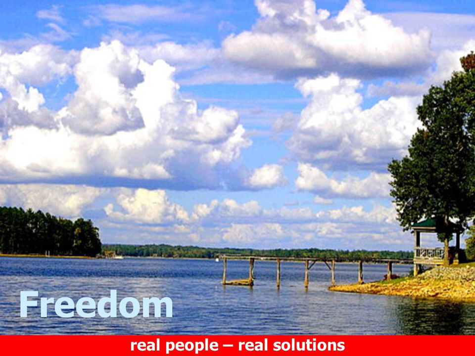 real people – real solutions