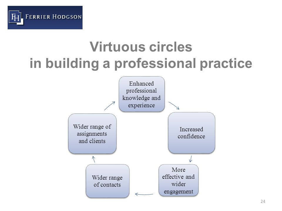 24 Virtuous circles in building a professional practice