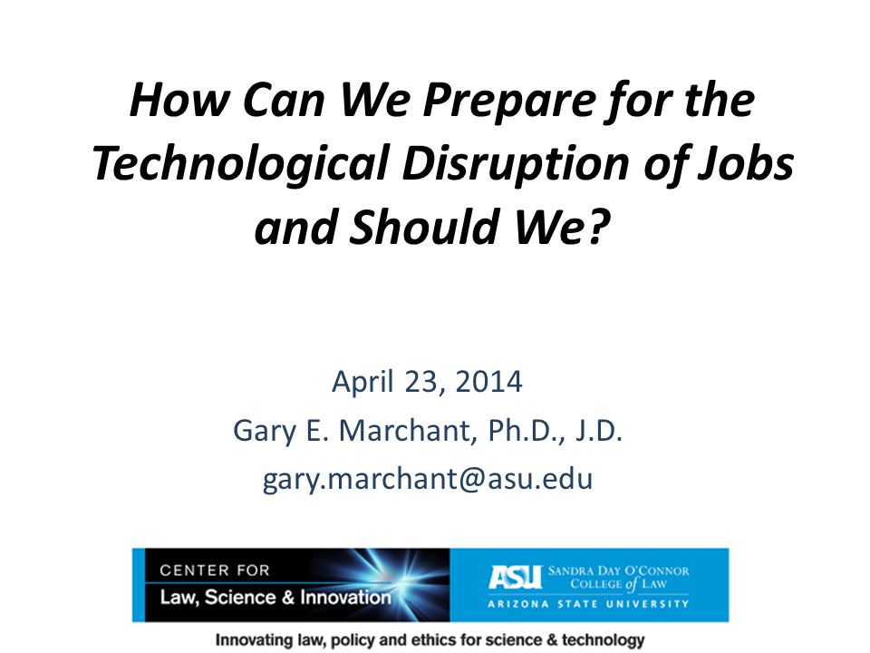 How Can We Prepare for the Technological Disruption of Jobs and Should We.