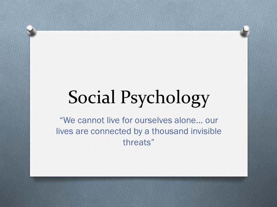 Questions that Social Psychology aims to answer: O What causes a group of people to perform a genocide.