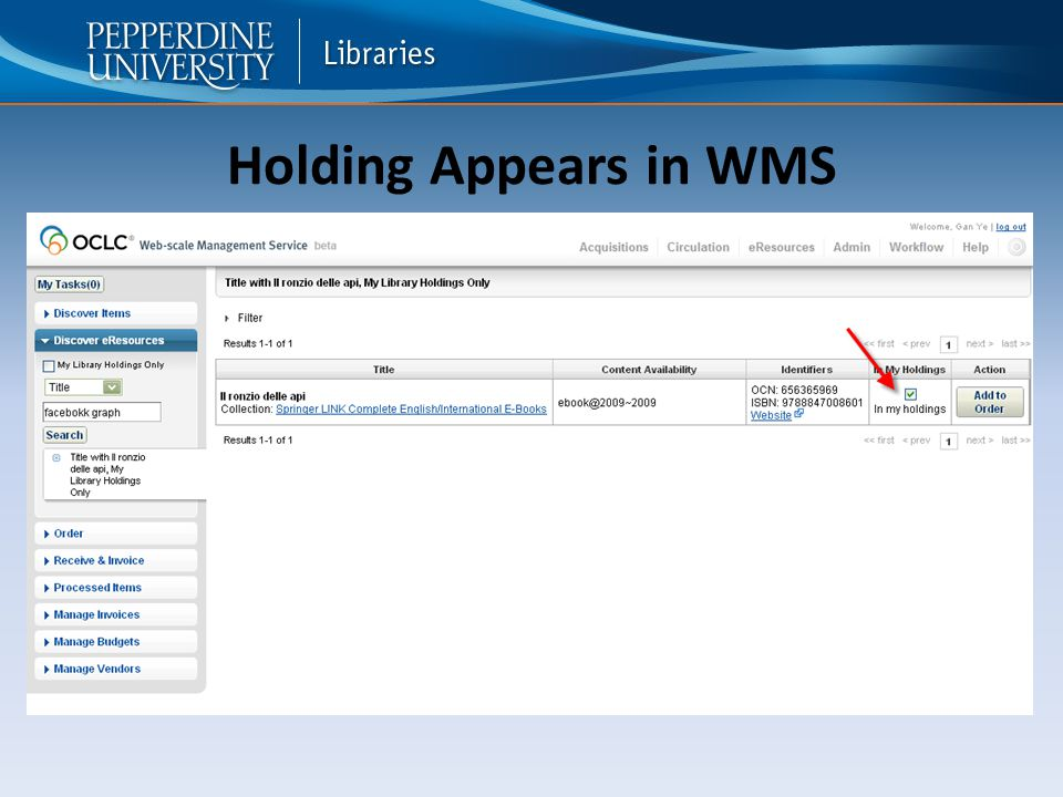 Holding Appears in WMS
