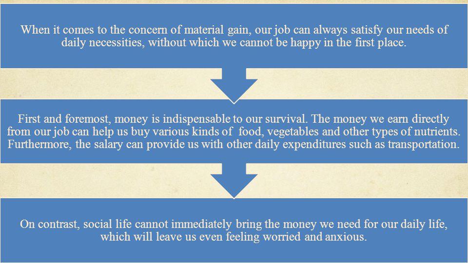 小马公开课 400-663-1986 小马公开课网址: bbs.xiaoma.com/gkk On contrast, social life cannot immediately bring the money we need for our daily life, which will leave us even feeling worried and anxious.