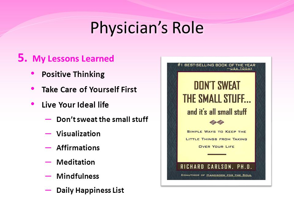Physician's Role 5.