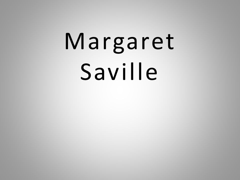 Margaret Saville