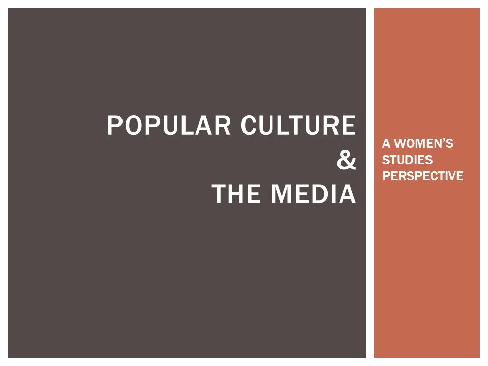 POPULAR CULTURE & THE MEDIA A WOMEN'S STUDIES PERSPECTIVE