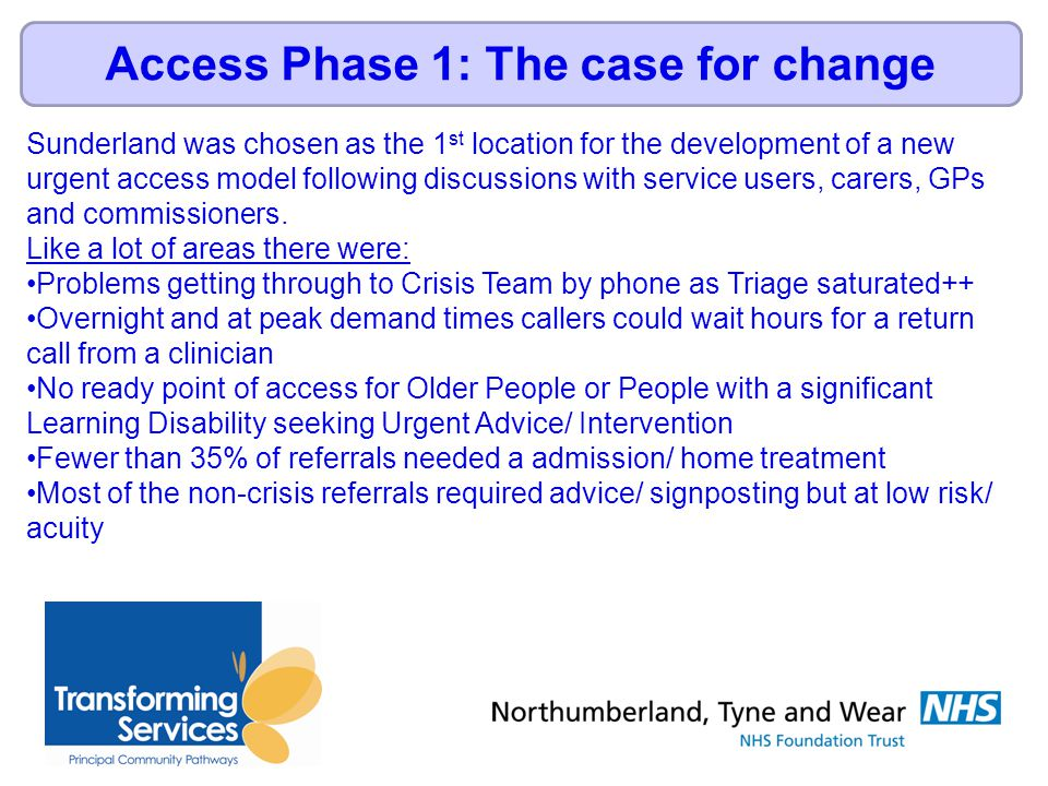 Large scale events- Local Authority, GP's, Commissioners, Service Users Focussed Group Events- Service Users, GP's, Staff, 3 rd sector.