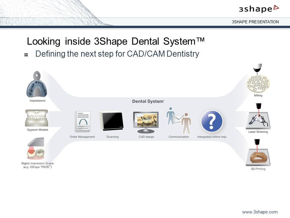 3SHAPE PRESENTATION www.3shape.com CT Scan feature coming.