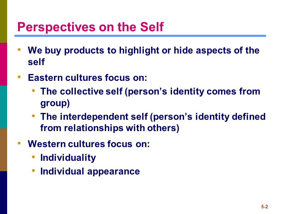 Self/Product Congruence Consumers demonstrate their values through their purchase behavior Self-image congruence models: we choose products when attributes matches the self Product UsageSelf-Image =