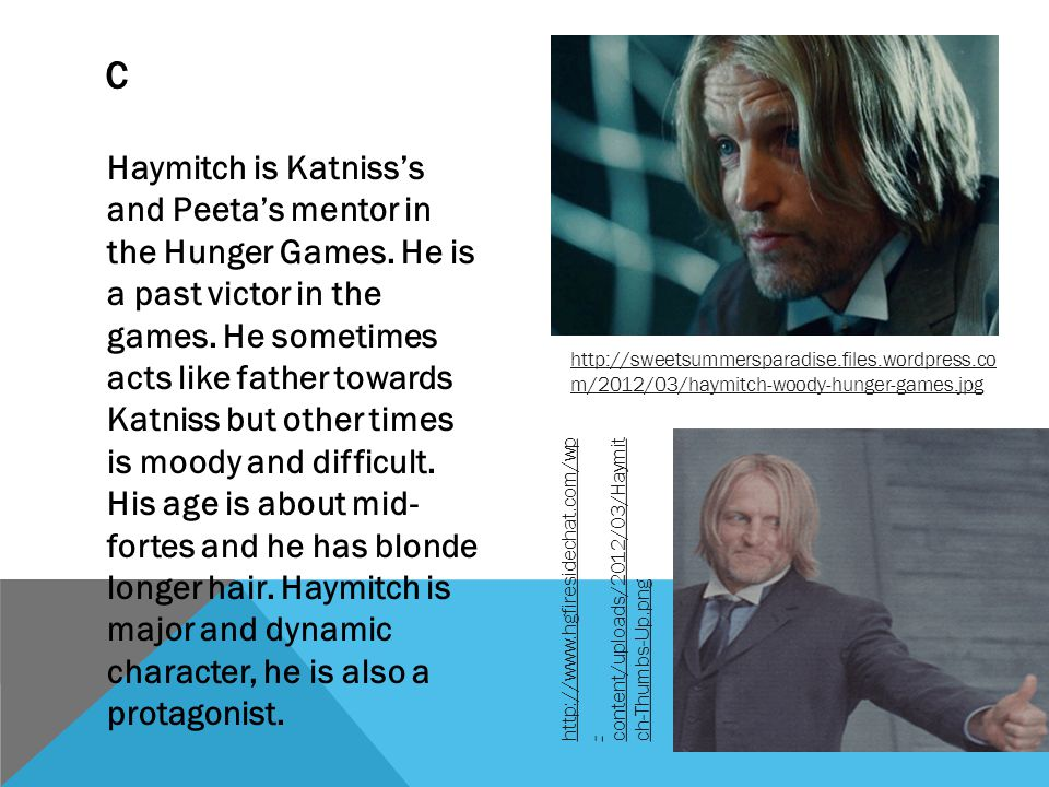 In 12 in 13 Katniss agrees to be the mockingjay The 1 st propos The district 8 bombing Katniss sees Peeta on TV The propos in 12 Peeta says I will be dead by morning to Katniss on the TV P RISING ACTION The bombing in 13 They rescue Petta Petta has been high jacked Katniss goes to 2 Katniss's speech in 2 Back 13 with Johanna The wedding Tanning with Johanna