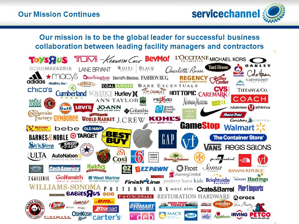 Our mission is to be the global leader for successful business collaboration between leading facility managers and contractors Our Mission Continues