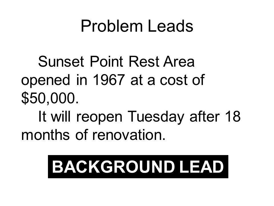 Sunset Point Rest Area opened in 1967 at a cost of $50,000.