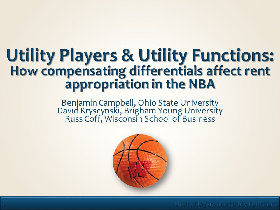 2 Utility Players and Utility Functions  Unique capabilities drive heterogeneous performance – these, in turn, draw on Firm-Specific human capital (FSHC) and knowledge.