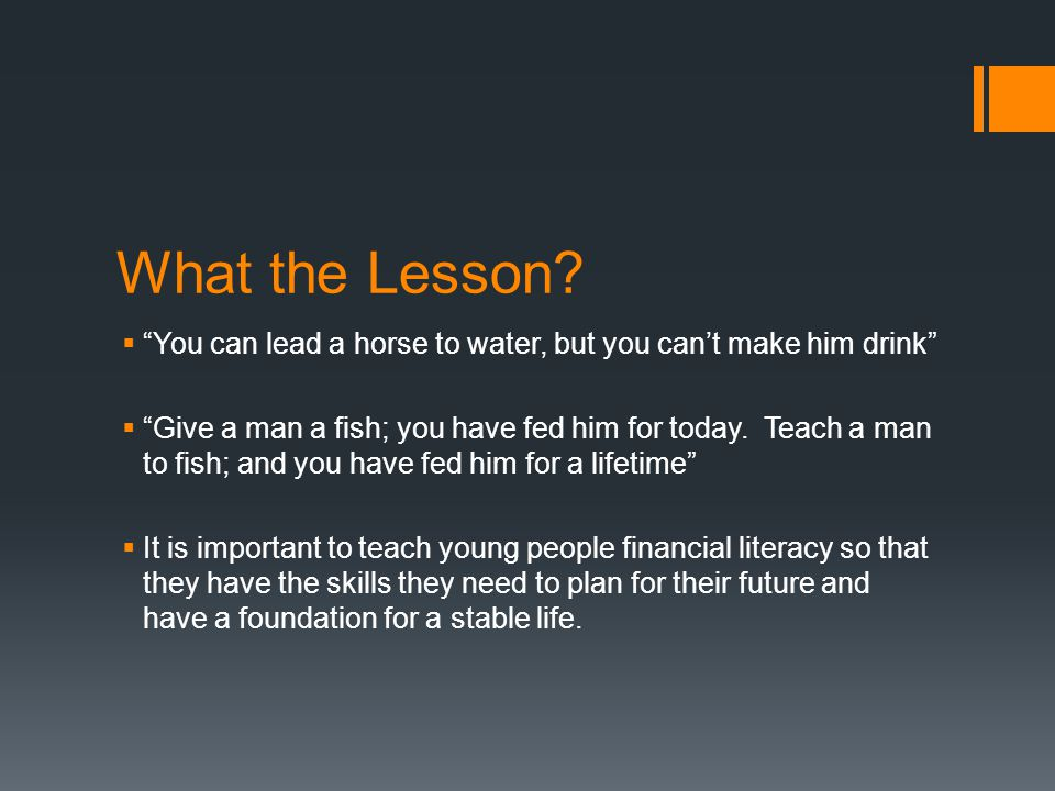 What the Lesson.