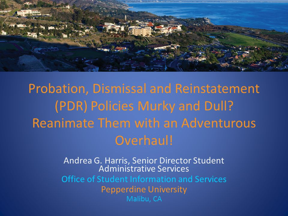 Probation, Dismissal and Reinstatement (PDR) Policies Murky and Dull.