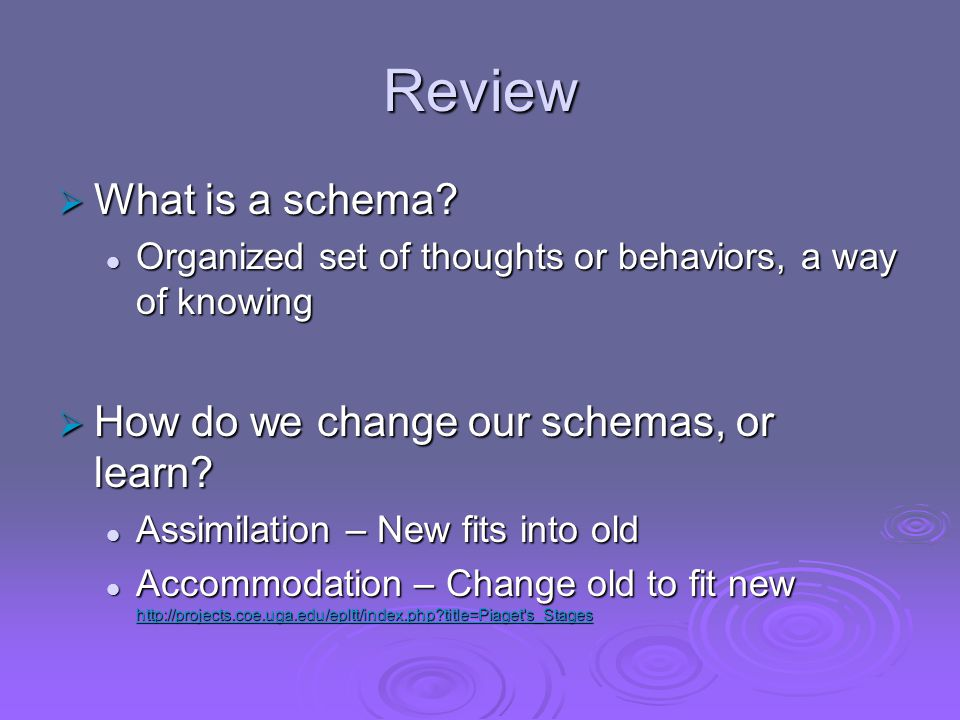 Review  What is a schema.