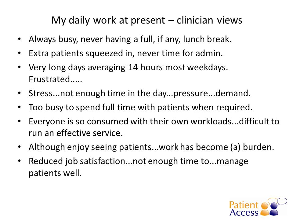Most patients do get an appt, but 9% told to call another time – rework means taking the call again