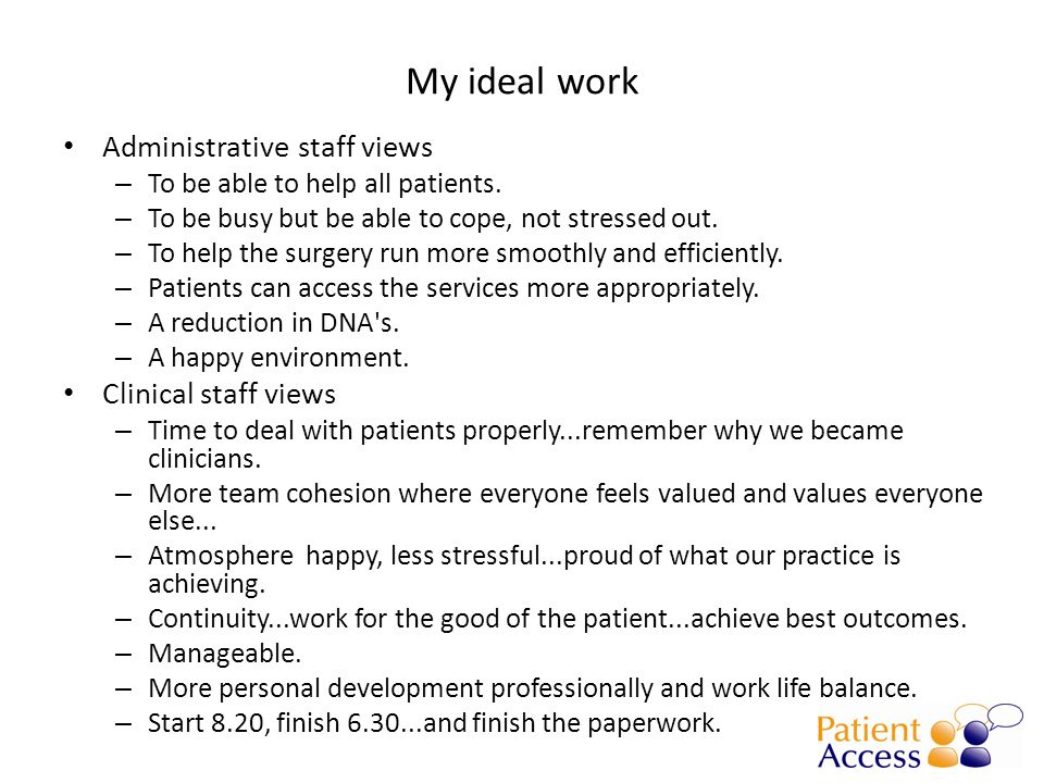 The traditional view of general practice One tiny problem Perfect service