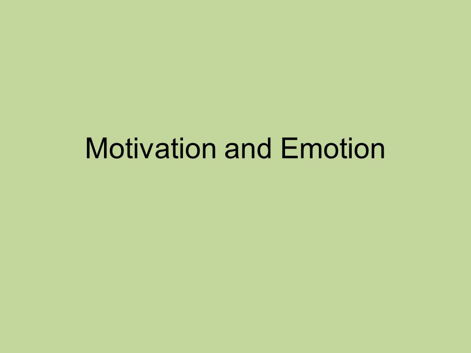 Psychology of Motivation Motive- is a stimulus that moves a person to behave in ways designed to accomplish a specific goal.