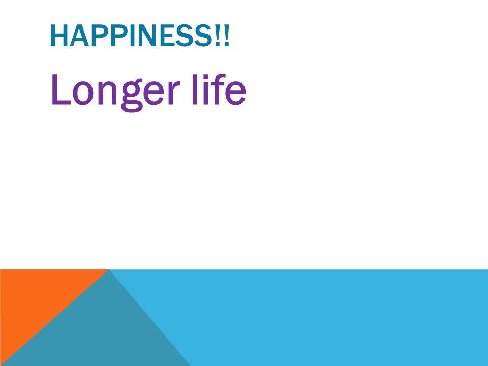 HAPPINESS!! Longer life—optimistic people live longer than pessimists.