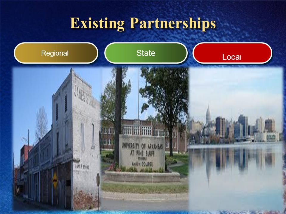 Existing Partnerships Regional State Loca l