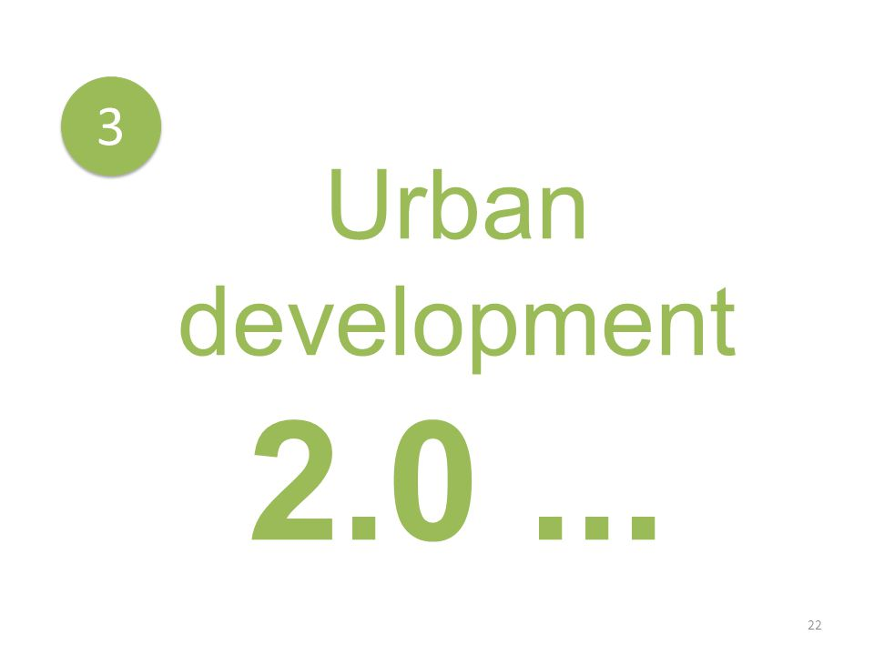 22 3 3 Urban development 2.0...