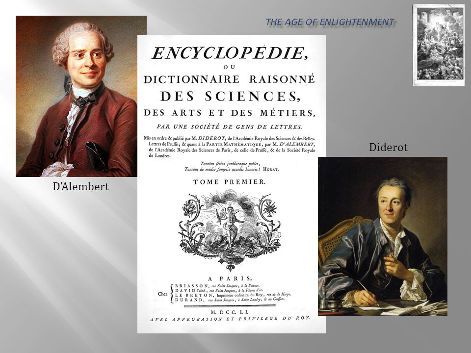 D'Alembert Diderot