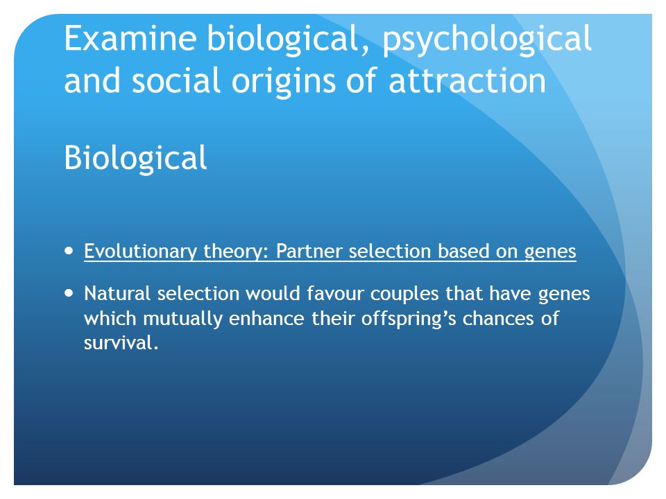 Wilson argues that MEN look for partners that have characteristics that indicate fertility.