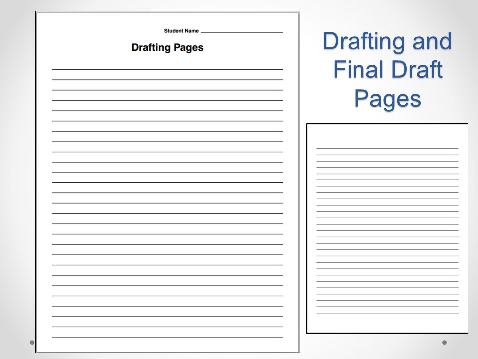Drafting and Final Draft Pages