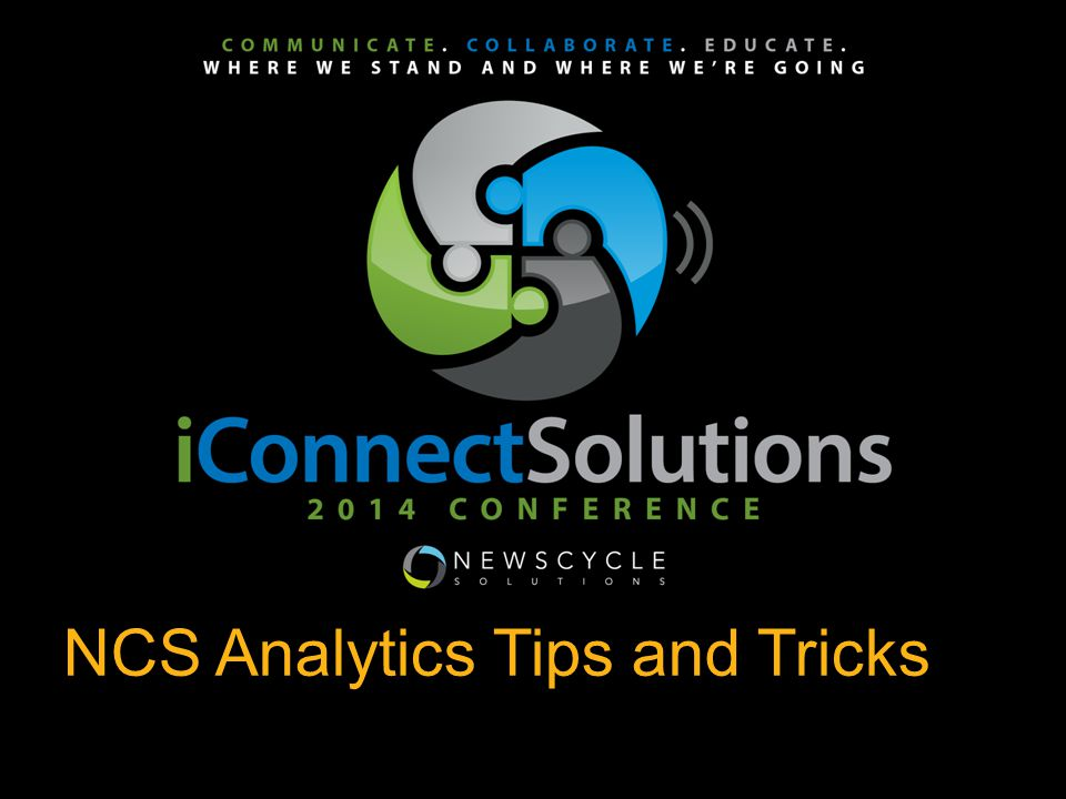 NCS Analytics Tips and Tricks `