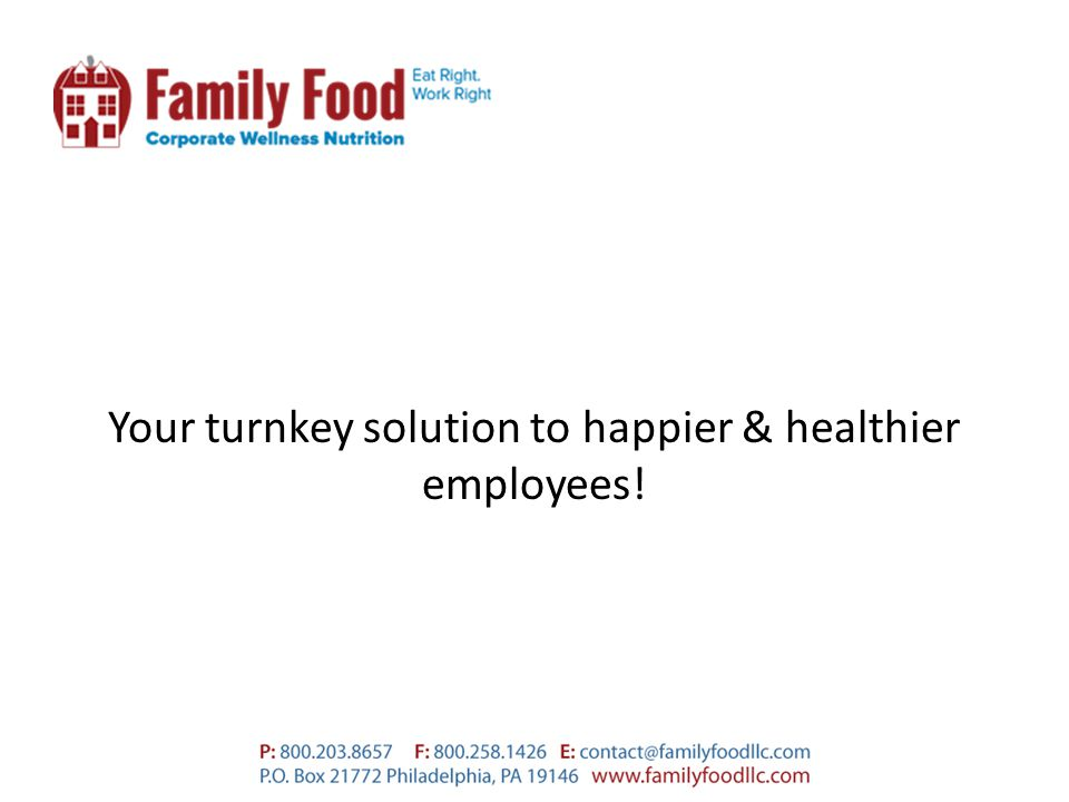 Your turnkey solution to happier & healthier employees!