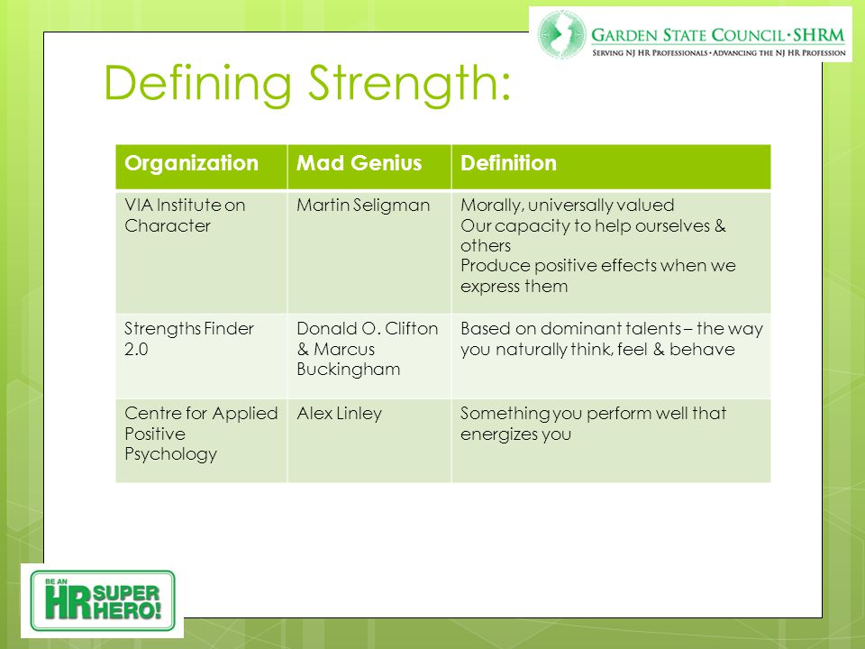 Discovering Strengths: 1. Observations 2. Questions 3. Tools Observing Strengths 1. Two volunteers!