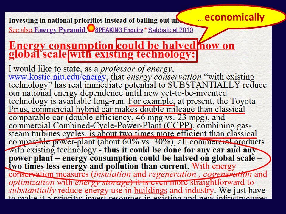 … economically