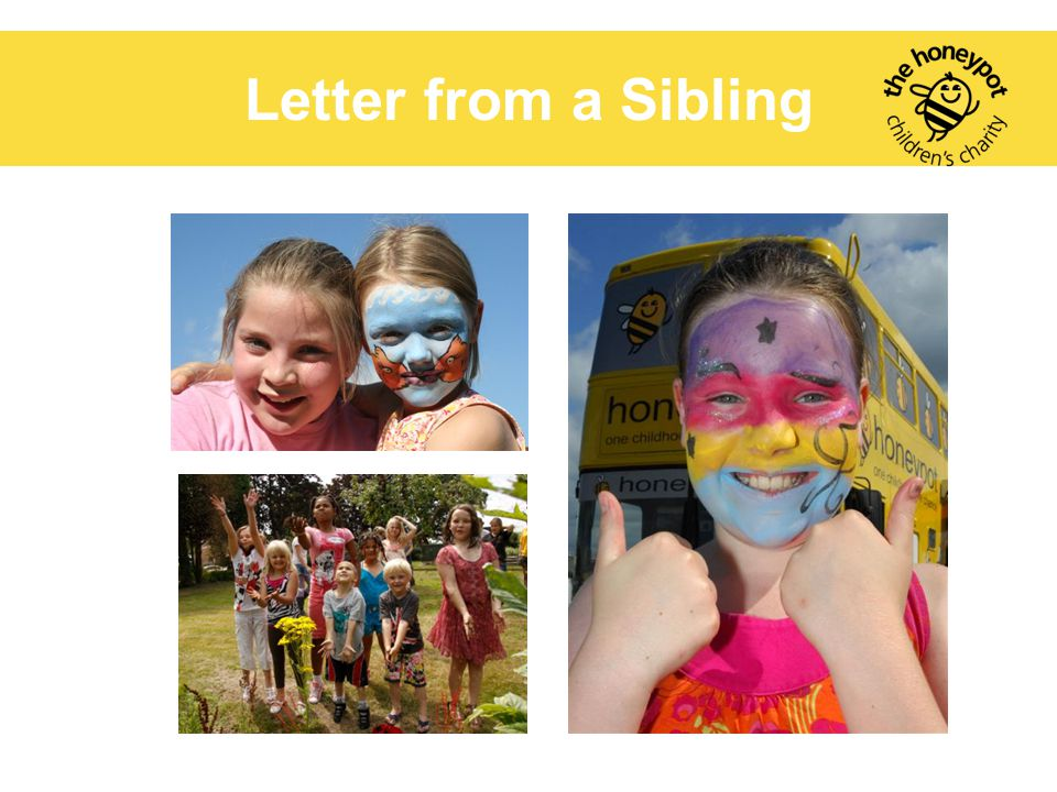 Letter from a sibling. Letter from a Sibling
