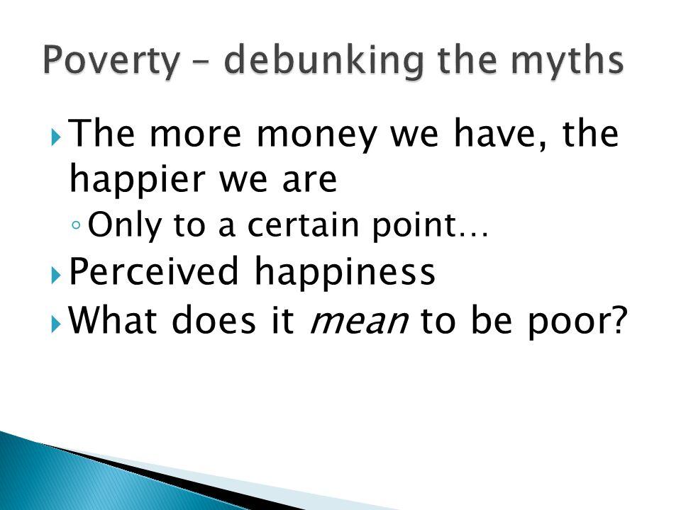  Myth 1 – Welfare people are lazy…  Myth 2 – Welfare makes life easy…  Myth 3 – People become addicted to welfare…