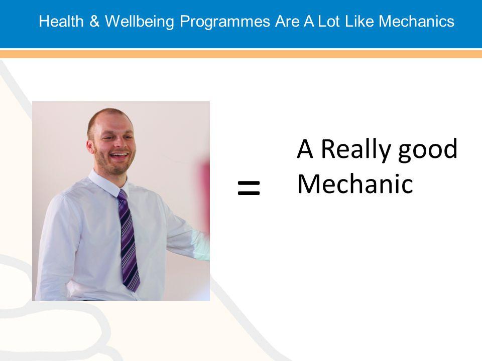 = A Really good Mechanic Health & Wellbeing Programmes Are A Lot Like Mechanics