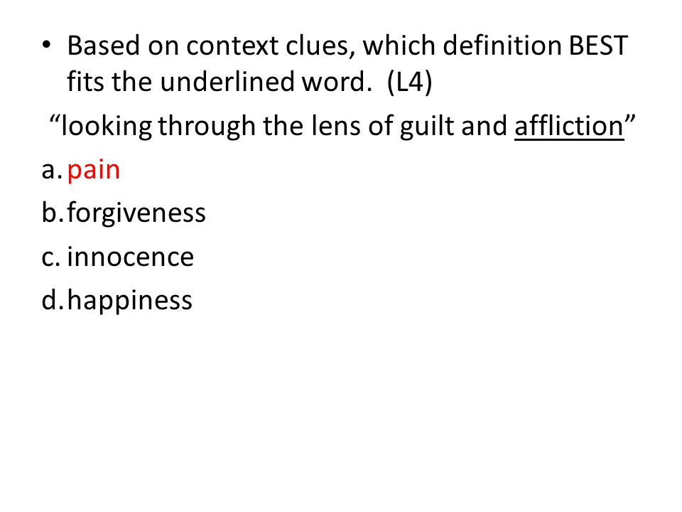 Based on context clues, which definition BEST fits the underlined word.