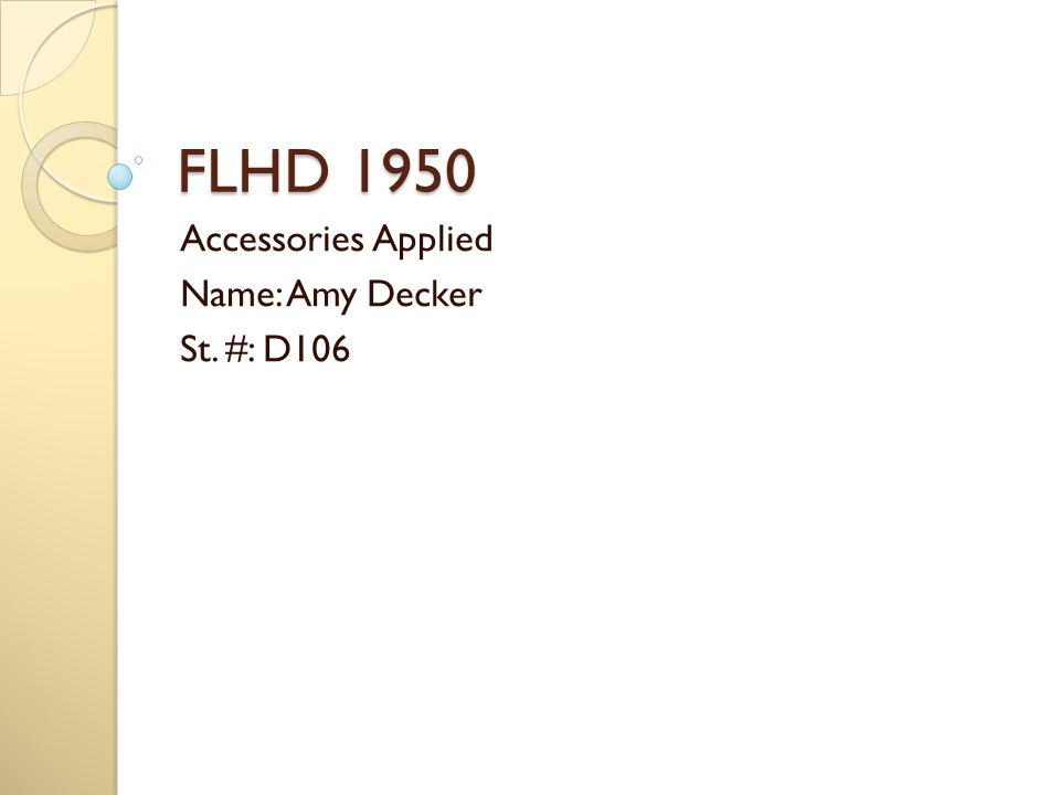 FLHD 1950 Accessories Applied Name: Amy Decker St. #: D106
