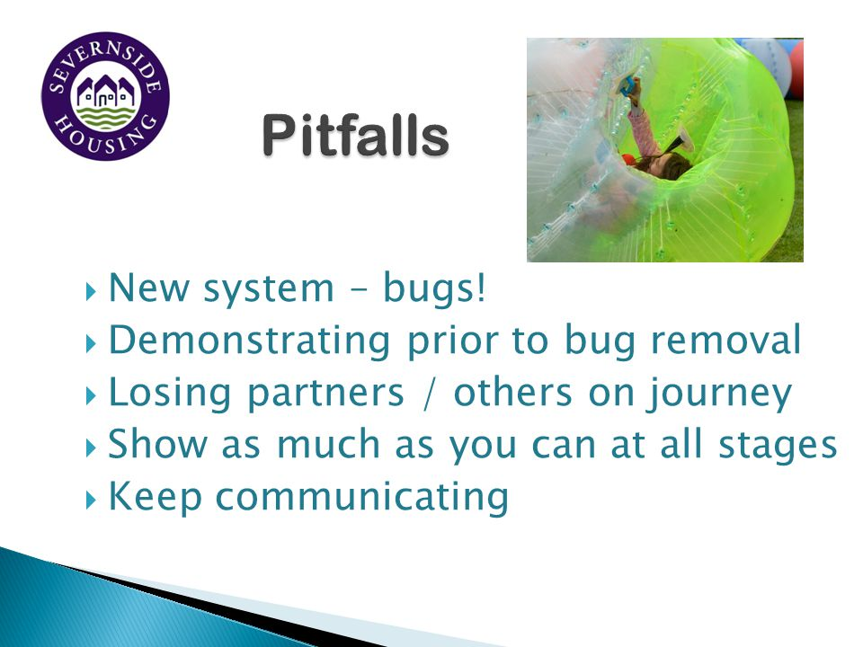  New system – bugs.