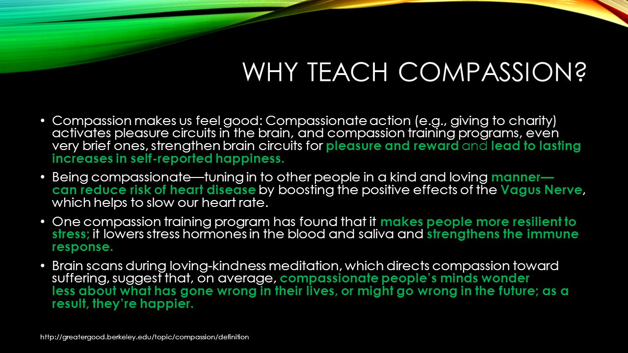 WHY TEACH COMPASSION.