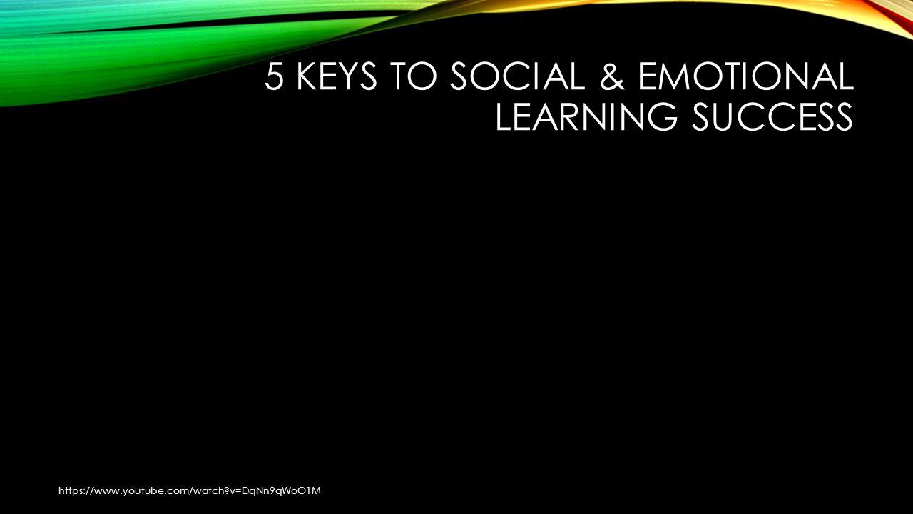 5 KEYS TO SOCIAL & EMOTIONAL LEARNING SUCCESS https://www.youtube.com/watch?v=DqNn9qWoO1M