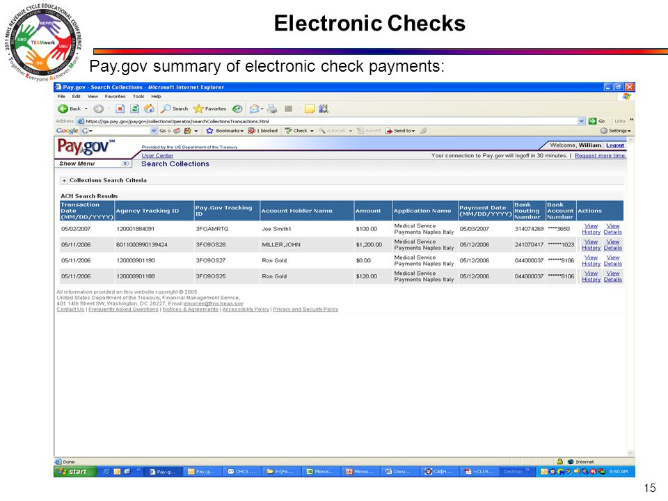 Electronic Checks No personal info on this screen – simulated data.