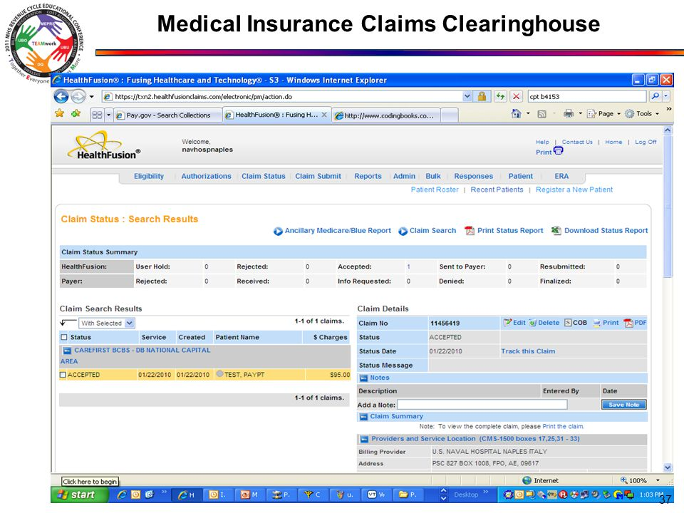 Medical Insurance Claims Clearinghouse 37