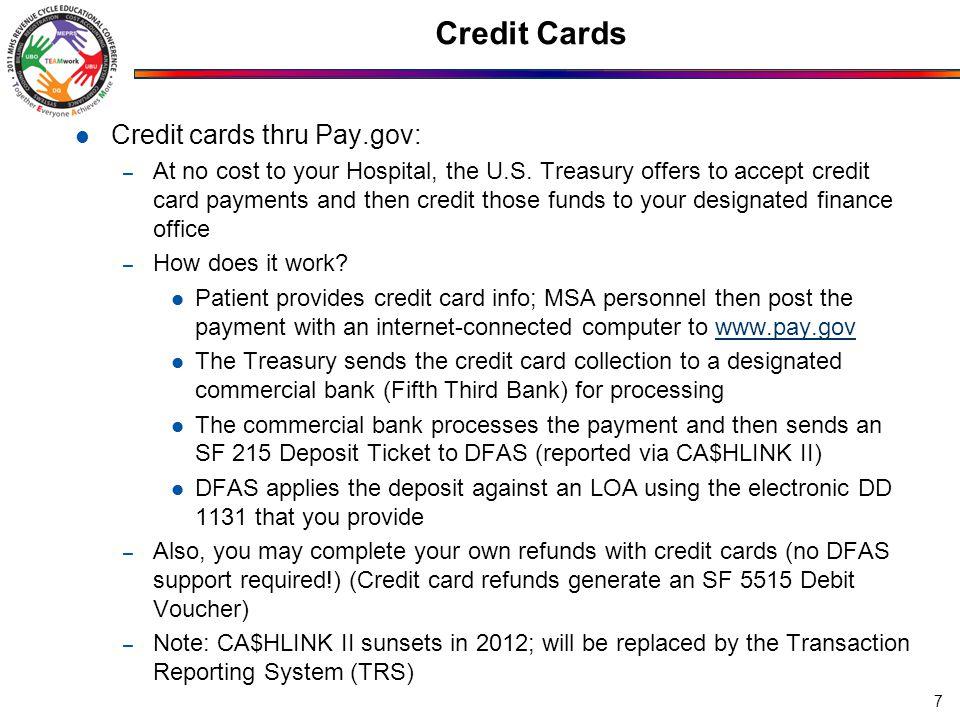 Credit Cards 8 Logging into pay.gov: