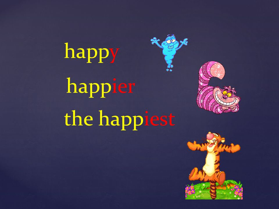 happy happier the happiest